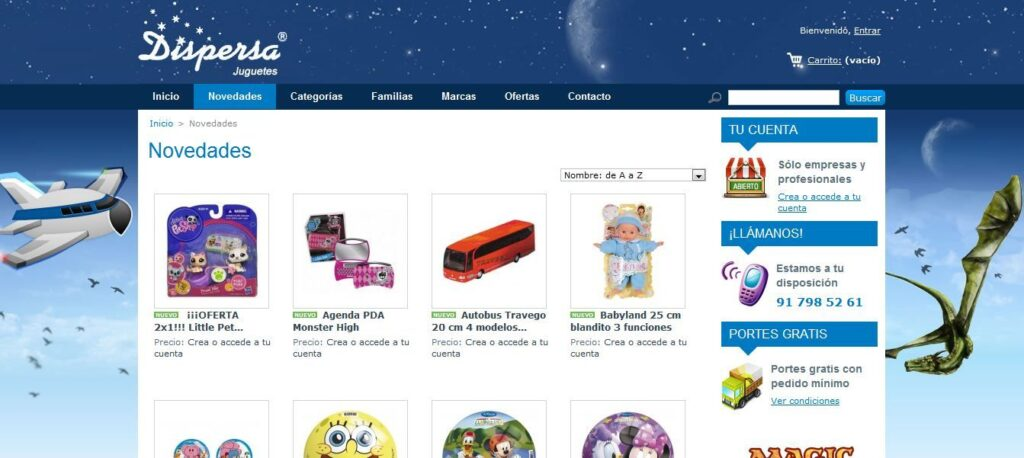 Distribuidor de juguetes al por mayor y juegos de mesa - Dispersa Juguetes